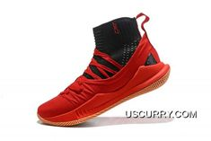 competitive price d7653 7dd21 Under Armour Curry 5 High Top Bright Red Black Men s Basketball Shoes Latest