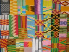 One of the most sumptuously colored textiles used for clothing is Ghanaian kente cloth, made by Asante and Ewe weavers using specially designed looms. Kente was probably introduced from the western Sudan during the 16th century, when heavy, elaborate, labor-intensive versions of this fabric were designed for wealthy tribal chiefs and simpler designs became available for the general citizenry. http://www.webexhibits.org/colorart/african-kente.html