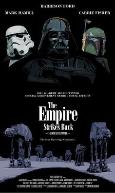 Empire Strikes Back Star Wars homage posters by oldredjalopy.com