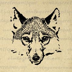 Dog Graphic Printable Image Husky Download Antique Digital
