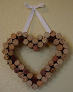 For a Later Date...: Another Wreath! Wine Cork Heart