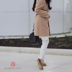 We love this simple yet cute and casual look! Perfect for winter days. Winter Day, Shoe Sale, Stilettos, Comfortable Shoes, Shoes Online, Casual Looks, Classic Style, Feminine, Legs