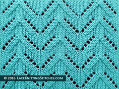 Lace Knitting. #37 Chevron Lace stitch