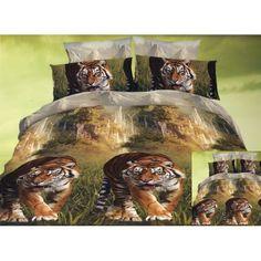 Obliečky na manželskú posteľ s tigrom