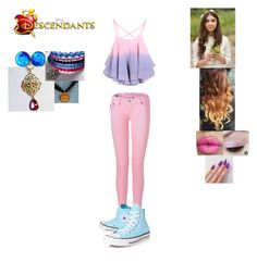 """""""Grace - Daughter of Anna and Hans (Requested Descendant)"""" by maxinepotter ❤ liked on Polyvore featuring True Religion, Converse, Disney, disney, OC and Descendants"""