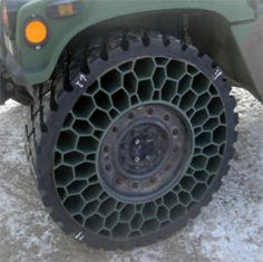 New honeycomb tire is 'bulletproof' | Military Tech - CNET News