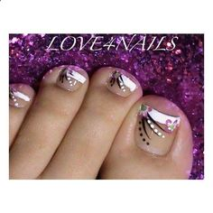 French Manicure Toe Nail Art Design Nail Art Gallery  liked on Polyvore