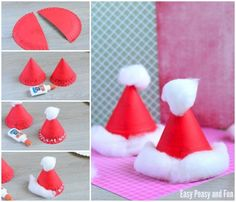 Paper Plate Santa Hats Craft for Little Ones