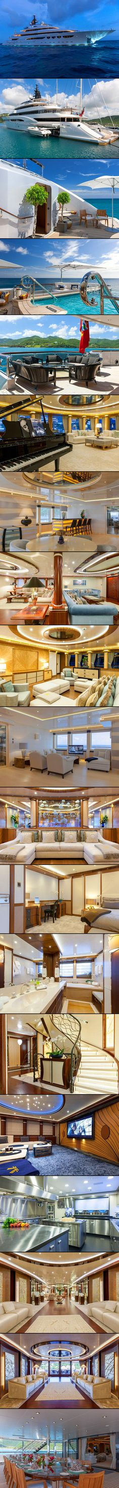 The 86 m yacht is called the Quattroelle. Its name means Love, Life, Freedom and Luxury and its easy to see why. The perfect place to relax and unwind from the stress of everyday life…if you could afford it of course! The broker, Moran Ship & Yacht, would not disclose the new owner or sale price, but the yacht was previously available for charter for $1.29 million per week.