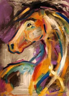 Pony Daze Horse Paintings by Texas Artist Laurie Pace, painting by artist Laurie Justus Pace
