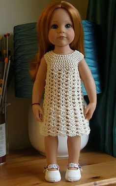 Baby Sasha Summer Outfit for AG. Makes me want to learn how to crochet!