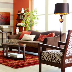 A Different Breed of Savings - Pier1 US  Love the brown comfy couch