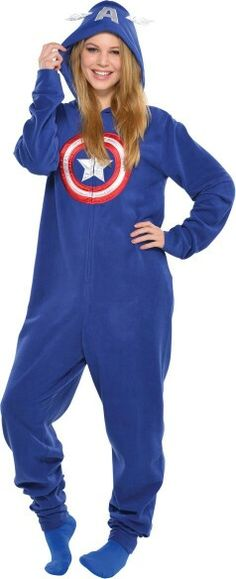 I want this!! Captain America Adult size pajamas