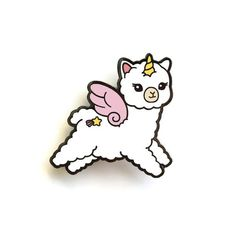 LuxCups Creative - So cute, it hurts! by LuxCups Croc Charms, Comic, Pin Art, Hard Enamel Pin, Cute Icons, Pin And Patches, Cute Wallpapers, Pin Collection, Pegasus