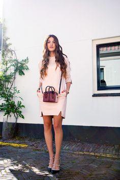 Kora Rae Leather Dress Valentino Rockstud Leather Pumps Tod's D'Cube Bag Mini.