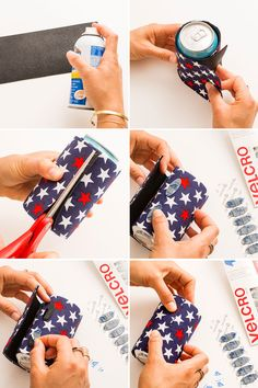 Make your own fabric koozie with this tutorial.