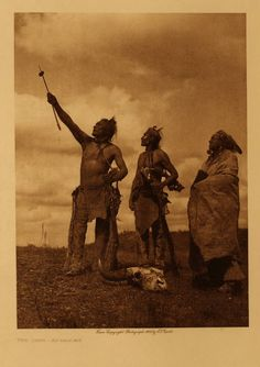 """The Oath - Apsaroke"" copper photogravure plate, photographed by Edward S Curtis. 1908."