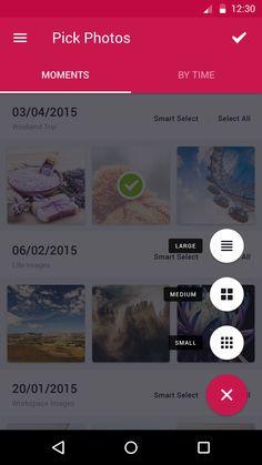 Pick photos menu