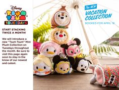 The Vacation Tsum Tsum Collection is Coming to the U.S. on April 18th, 2017!