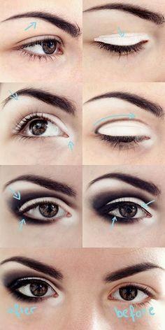 How to Make Your Eyes Look Bigger - Smokey Eye Tutorial - Toronto, Calgary, Edmonton, Montreal, Vancouver, Ottawa, Winnipeg, ON