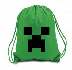 Creeper Drawstring Backpack Creeper Minecraft by