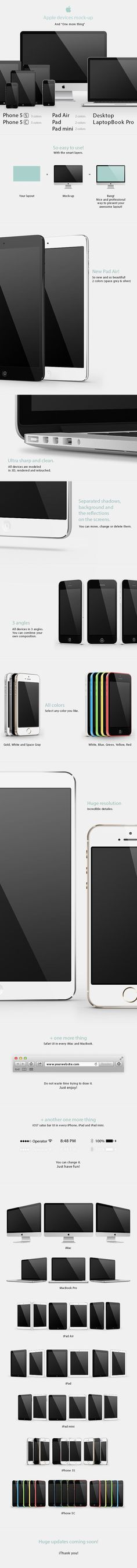 Mock ups of Apple