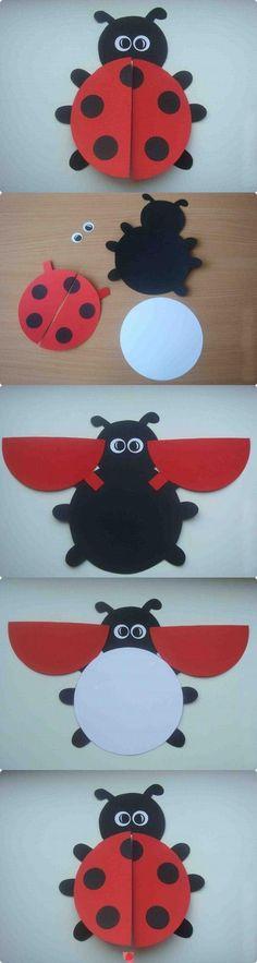 DIY Ladybug Postcard