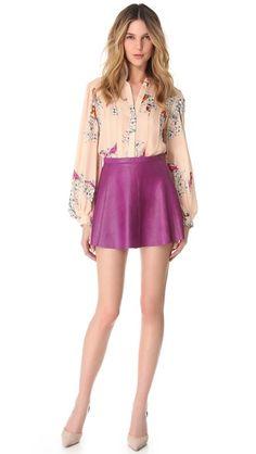 Love Leather Jawbreaker A Line Mini Skirt - love this look!