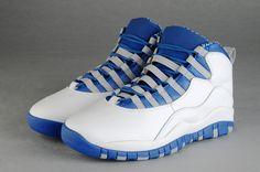 : Nike Air Jordan 10 Mens White/Blue : Cheap jordans for sale #Cheap #Jordans SneakerHeadStore.com