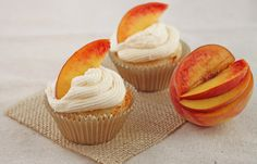 Ginger Peach Cupcakes from http://www.dessertfortwo.com/2012/08/ginger-peach-cupcakes/