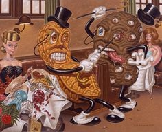 """A Goober And Tuber in an Exchange of Fisticuffs"" Todd Schorr"