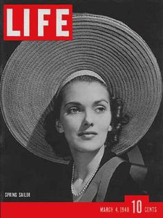 The March 1940 edition of Life Magazine featured a photo by Alfred Eisenstaedt of model and actress Anita Colby in Miami Beach on the cover. Colby was the highest paid model of her era, earning 50 dollars an hour. Magic Bullet, Life Magazine, Life Cover, Architecture Art Design, March 4, Vintage Magazines, Vintage Hats, Life Photo, Photojournalism