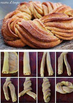 Torsade de pâte feuilletée et de crème de marron ou nutella