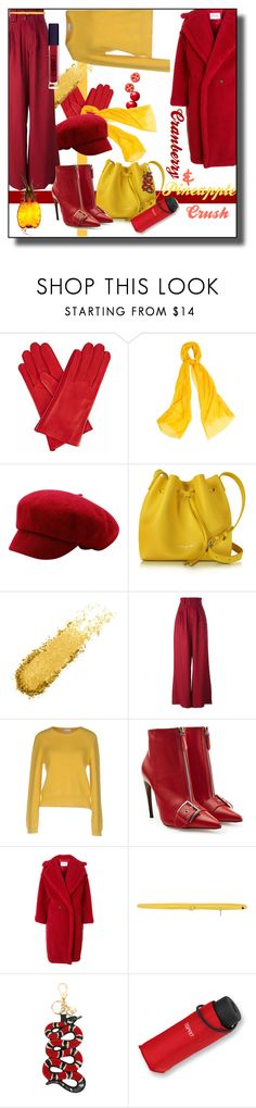 """""""Crush"""" by kelly-floramoon-legg ❤ liked on Polyvore featuring Gizelle Renee, WtR, Lancaster, Joseph, RED Valentino, Alexander McQueen, MaxMara, malo, Gucci and Lipstick Queen"""