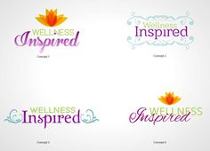 "More ""my wellness inspired"" logo mockups"