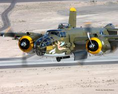 "North American B-25 Mitchell Bomber, ""Heavenly Body""."