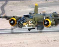"North American B-25 Mitchell Bomber, ""Heavenly Body""."
