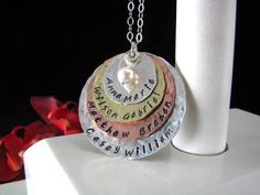 Stainless Steel Mixed Metal Hand Stamped by StampedByTheHeart, $48.00