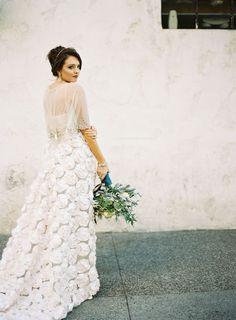 Tendance Robe du mariage 2017/2018  Rose embellished wedding skirt: Photography: Ashley Keleman  ashleykelemen.com/
