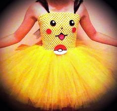 Check out this item in my Etsy shop https://www.etsy.com/listing/227102024/pikachu-pokemon-tutu-dress-from