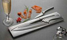 Recursive Knives.     I think they're cool, but don't buy them for me, because they cost $858.59.