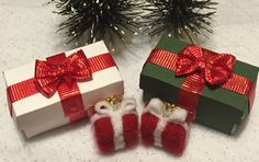 Lightweight present earrings by roninadesigns on Etsy