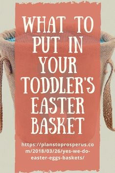 Want ideas for an Easter basket that are toddler friendly and not just chocolate bunnies? Easter Egg Basket, Easter Eggs, Easter Baskets For Toddlers, Jesus Resurrection, Chocolate Bunny, Bunnies, Posts, How To Plan, Ideas