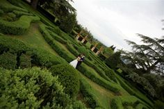 © We Do Weddings by A&J All rights reserved Romantic shot of the bride and groom in the amazing and unique Italian Garden. Beautiful shot by our official photographer Matteo.