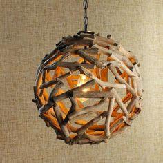 4 treibholz lampe diy lampenschirm selber machen ball licht selber machen