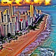 #brasil #recife #pernambuco #Sunrise    #praiadeboaviagem #travel #mobli #filter