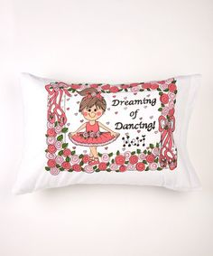 Bunnies and Bows Brown-Haired Ballerina Personalized Standard Pillowcase Ballerina Bedroom, Beautiful Baby Girl, Little Ones, Bunnies, Bed Pillows, Pillow Cases, Bows, Dance, Fun