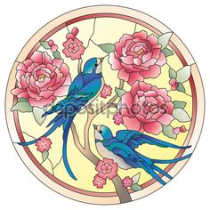stained glass birds - Buscar con Google