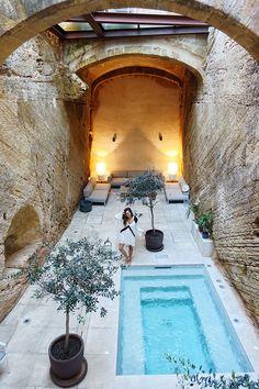 Mallorca out of season Backyard Pool Designs, Small Backyard Pools, Small Pools, Backyard Ideas, Jacuzzi, Mini Piscina, Kleiner Pool Design, Small Pool Design, Mini Pool