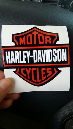 Harley-Davidson Vehicle Decal. Silhouette Cameo Vinyl Craft Project.